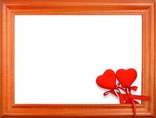 Free Two Hearts  Frame Royalty Free Stock Photography - 15626237
