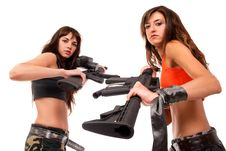 Free Image Of A Two Armed Girls Royalty Free Stock Photo - 15626365