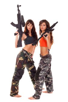 Free Two Armed Girls Royalty Free Stock Photos - 15626408