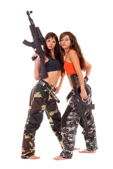 Free Two Armed Girls Stock Images - 15626414