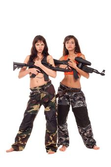 Free Two Armed Girls Royalty Free Stock Photo - 15626435