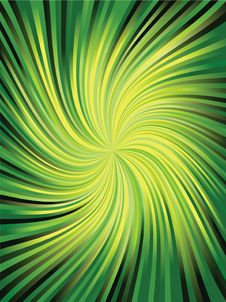 Green Rays Stock Image