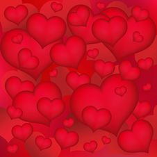 Free Background Hearts Stock Images - 15626504