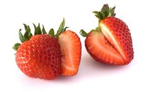 Free Strawberries Isolated On White Background Stock Photography - 15626882