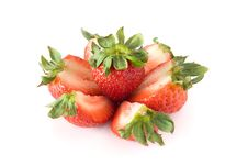 Free Strawberries Isolated On White Background Stock Photos - 15626913