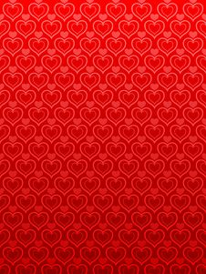 Scarlet Hearts Background Royalty Free Stock Photo