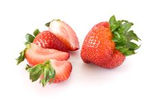 Free Strawberries Isolated On White Background Royalty Free Stock Photos - 15626938