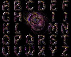 Free Vibrant Swirl Nebula Alphabet Collage Stock Photo - 15628330