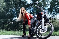 Free Attractive Motorbiker Stock Photography - 15630442