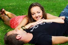 Free Couple In Park Stock Photography - 15630502