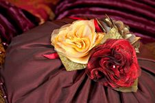Free Silk Pillow Roses Stock Photo - 15630550