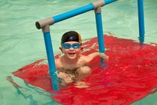 Young Boy In Pool Stock Photos