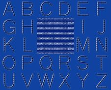 Free Abstract Binary Code Alphabet Stock Photos - 15637393