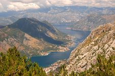 Spectacular And Picturesque View On Boka Kotorska Stock Images