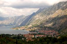 Spectacular And Picturesque View On Boka Kotorska Stock Photos