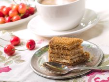 Free Cake With Coffee Royalty Free Stock Photo - 15639115