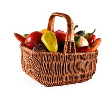 Free Basket With Vegetables Royalty Free Stock Photo - 15639695