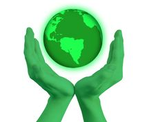 Free Green Hands With World Globe Royalty Free Stock Photo - 15639915