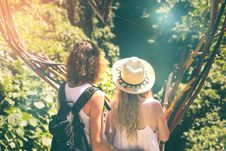 Free Couple Of Tourist In The Jungle Of Bali Island Royalty Free Stock Photos - 156389548