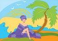 Free Girl Near Palm Tree Stock Image - 15641871