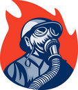 Free Fireman Firefighter Gas Mask Royalty Free Stock Images - 15648799