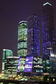 Free Skyscrapers At Night Stock Photos - 15640143