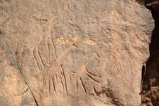 Rock Engraving, Libya Royalty Free Stock Image