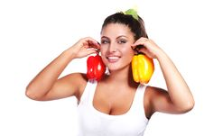 Free Woman And Pepper Stock Photography - 15641542