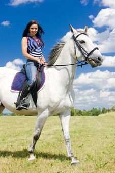 Equestrian On Horseback Stock Images