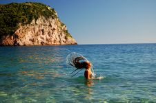 Having Fun In Adriatic Waters Royalty Free Stock Photography