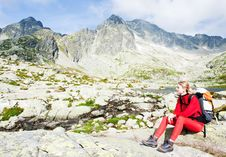 Free Woman Backpacker In High Tatras Stock Photography - 15642042