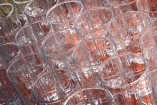 Free Many Empty, Transparent Glass Cup. Stock Images - 15642134
