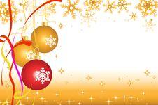 Free Yellow Christmas Background Stock Image - 15642221