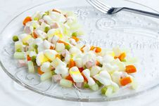 Free Christmas Potato Salad Stock Photos - 15642283