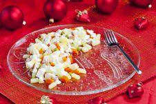 Free Christmas Potato Salad Stock Images - 15642304