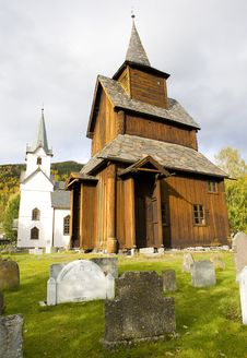 Torpo Stavkirke, Norway Stock Photography