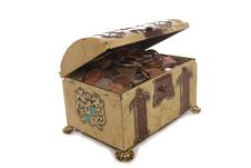 Free Treasure Chest With Money Stock Images - 15642604
