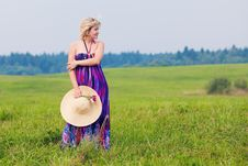 Free Girl On A Meadow Stock Photography - 15643162