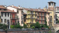 Free View Of Old Houses In Verona Royalty Free Stock Photos - 15643208