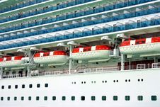 Cruise Ship Closeup Royalty Free Stock Image
