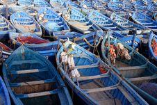 Free Blue Fishing Boats Stock Image - 15644281