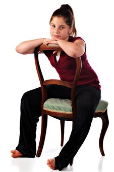 Sitting Backwards Royalty Free Stock Photography