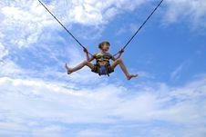Free Girl On Ropes Stock Image - 15645541