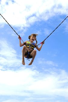 Free Girl On Ropes Royalty Free Stock Photography - 15645557