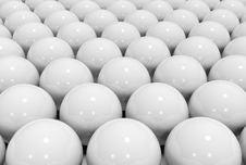Many White Ball Royalty Free Stock Photo