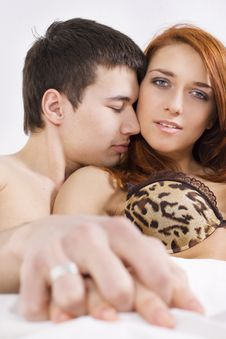 Free Young Couple At Bedroom Stock Images - 15646404