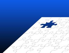 Free White Jigsaw Over Blue Royalty Free Stock Photography - 15646537