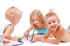 Free Group Of Children Drawing Stock Images - 15646544