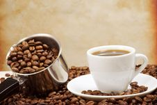 Free Pot And Cup Of Coffee Stock Photo - 15646630