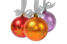 Free Christmas Ball Over White Stock Images - 15647024